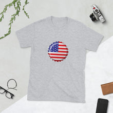 Load image into Gallery viewer, Old Glory Flag Cap T-Shirt - Homebrewsy.com