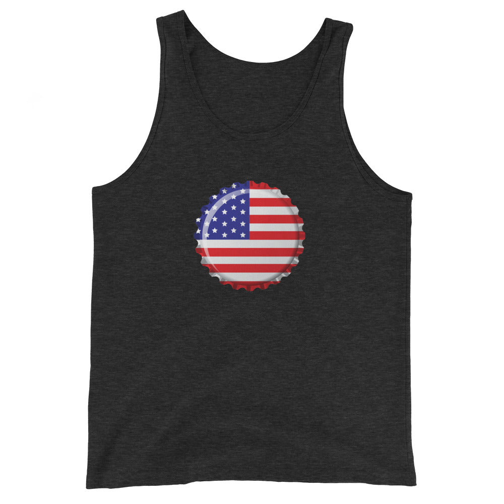 Old Glory Crown Cap Tank Top - Homebrewsy.com