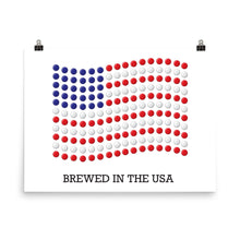 Load image into Gallery viewer, Brewed in the USA Poster - Homebrewsy