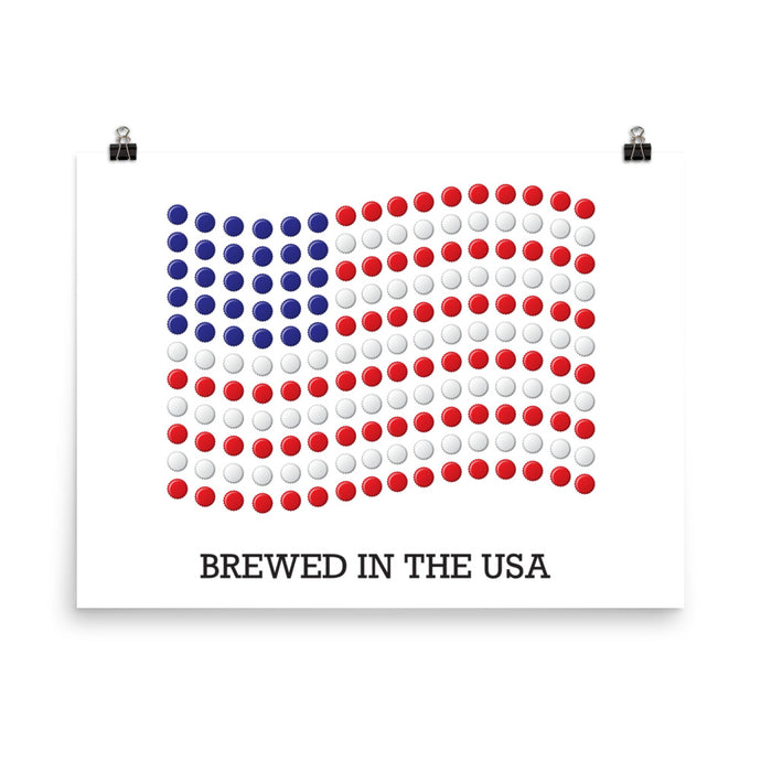 Brewed in the USA Poster - Homebrewsy.com