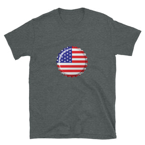 Old Glory Flag Cap T-Shirt - Homebrewsy.com