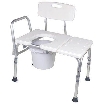 Bathtub Transfer Bench with Opening & Bucket