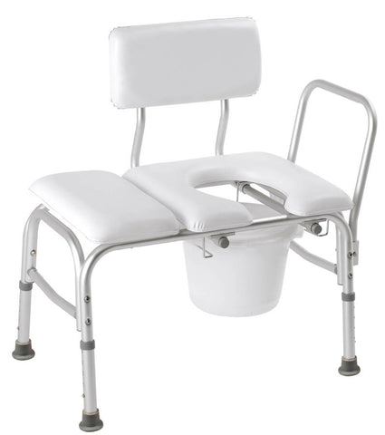 Deluxe Padded Transfer Bench with Opening & Bucket