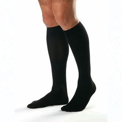 Classic Supportwear Men's Knee-High Mild Compression Socks - X-Large, Black