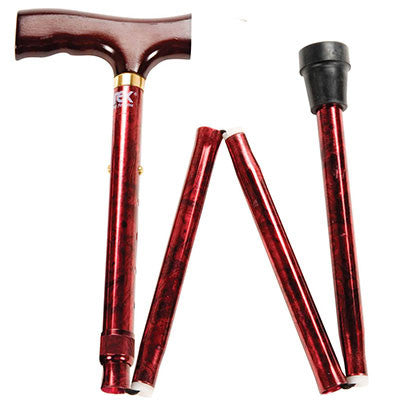Designer Folding Cane - Red
