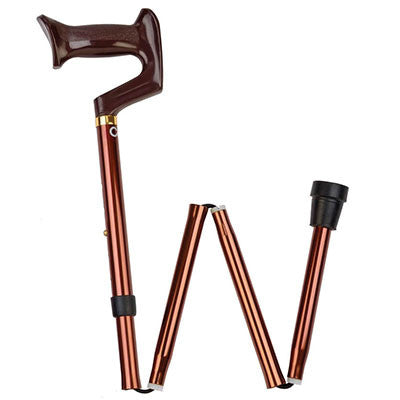 York Folding Cane - Bronze