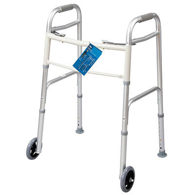 "Dual Button Walker with 5"" Wheels"