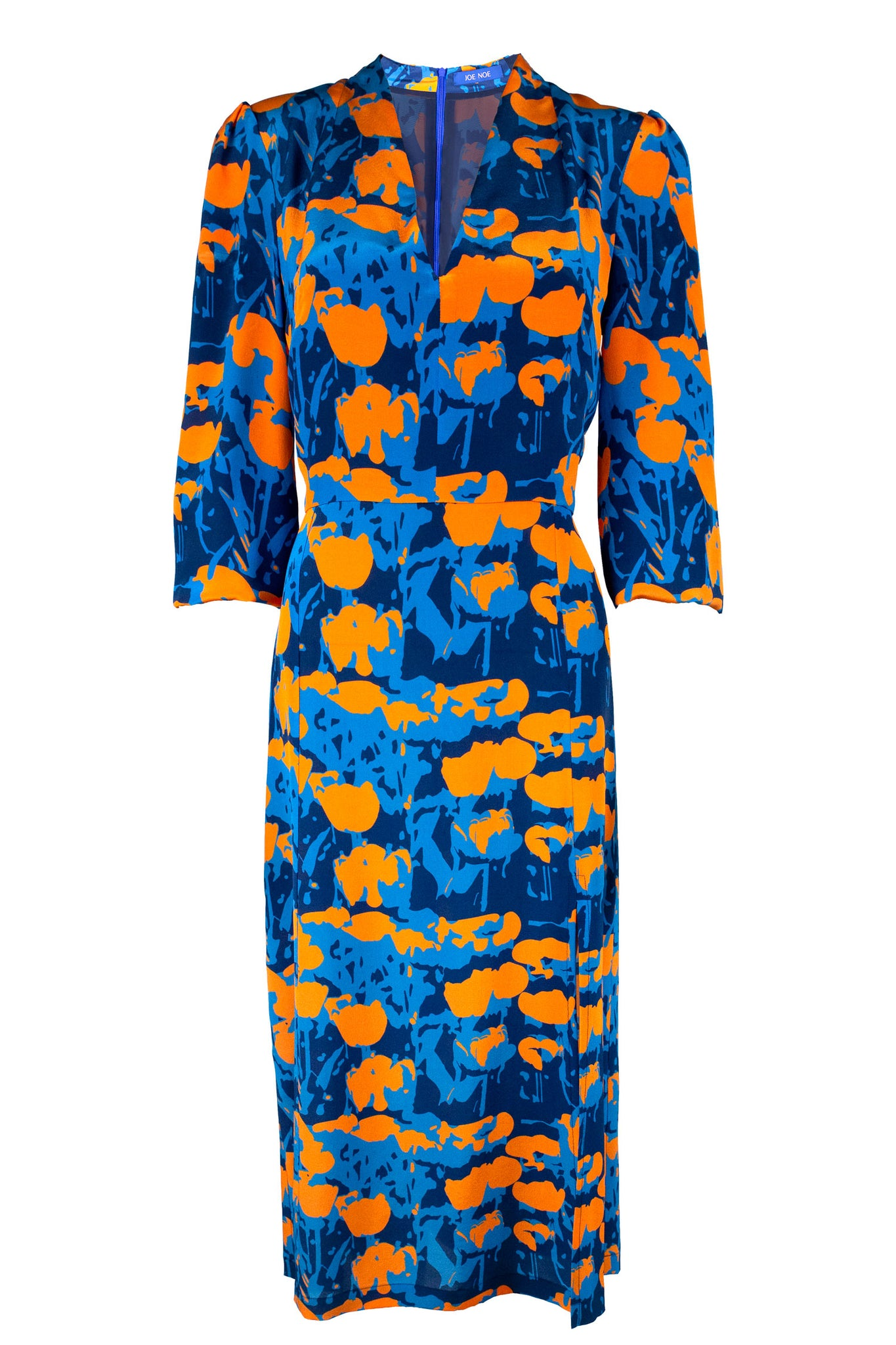 Annie Dress - Orange Tulip Print