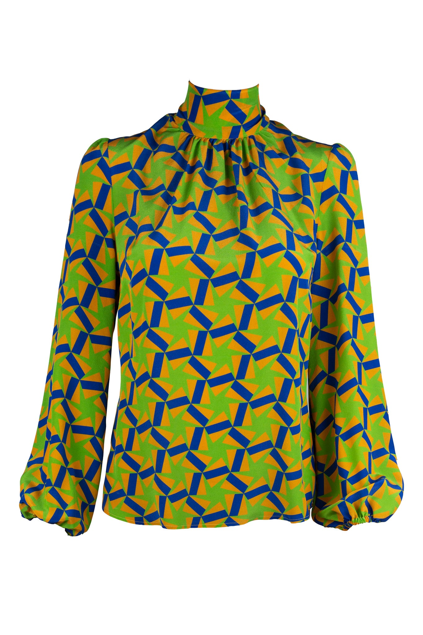 Stevie Blouse - Geometric Star Print