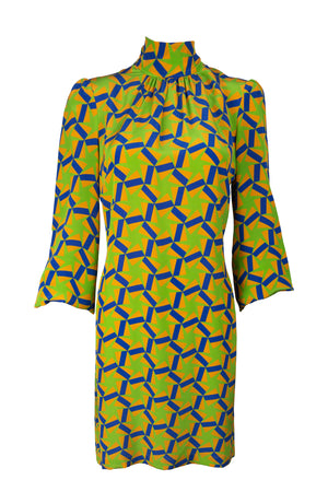 Joni Dress - Geometric Star Print