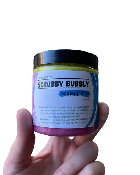 Scrubby bubbly - sugar plum
