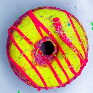 Black raspberry donut