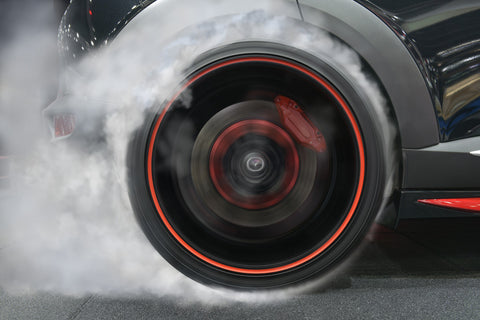Tire with smoke
