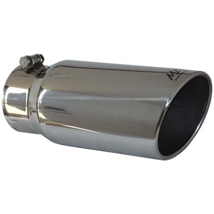"MBRP 5"" Outlet/4"" Inlet/12"" Length Angled Rolled Exhaust Tip - UNIVERSAL - mbrp T5051"