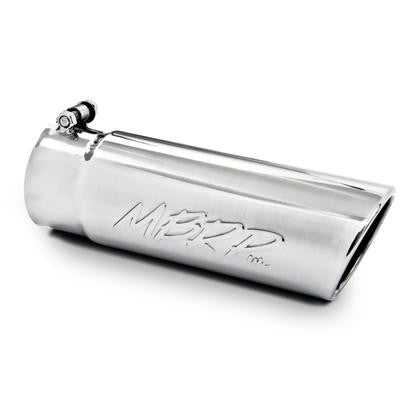 "MBRP 4"" Outlet/2.5"" Inlet/12"" Length Angled Rolled Exhaust Tip - UNIVERSAL - mbrp T5150"