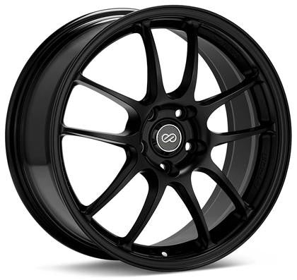 Enkei PF01 Wheel - 17x7 4x100 39mm Offset 75mm Bore - Black - 460-770-4938BK