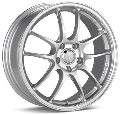 Enkei PF01 Wheel - 15x7 4x100 35mm Offset 75mm Bore - Silver - 460-570-4935SP