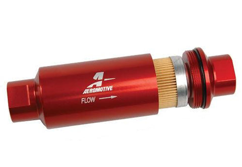 Aeromotive Universal Aluminum In-Line 10 Micron Fuel Filter ORB-10 Ports 12301