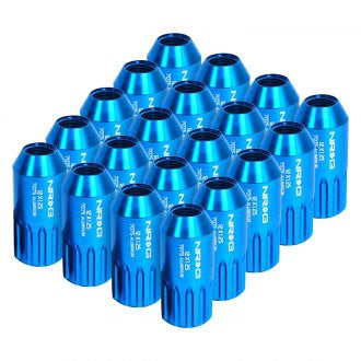 NRG Innovations M12 x 1.25 12pt Lug Nut Set 21 pc. Blue T7075 LN-510BL-21 - HPTautosport