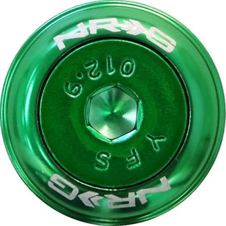 NRG Innovations Fender Washer Kit, Set of 8, Green with Color Matched Bolts, Rivets for Plastic FW-800GN - HPTautosport