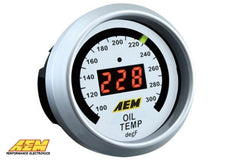 AEM Digital Oil Water Coolant Trans Temp Temperature 300F Gauge 30-4402