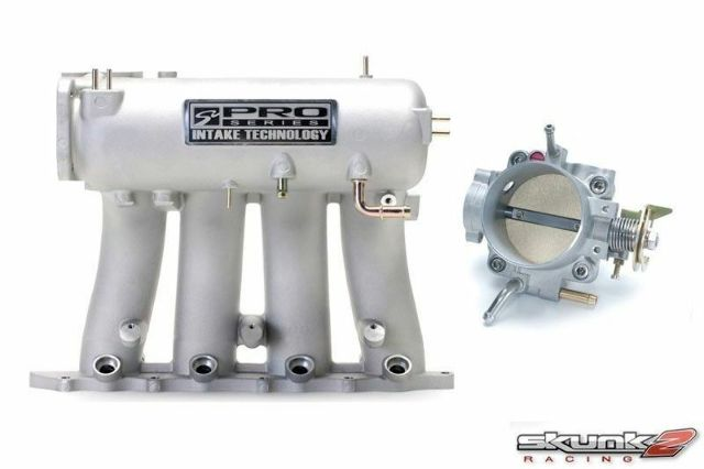 SKUNK2 Intake Manifold Pro Silver+Throttle Body Alpha 70mm B18A1/B18B1/B20B/B20Z