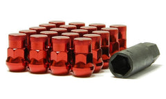 Muteki SR35 Close End Lug Nuts w/ Lock Set - Red 12x1.50 35mm 32926RP - HPTautosport