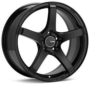 Enkei Kojin 18x9.5 15mm Inset 5x114.3 Bolt Pattern 72.6mm Bore Dia Matte Black 476-895-6515BK