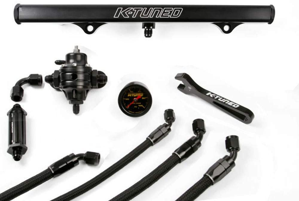 K-Tuned Center Feed Fuel System with Brushed Aluminum Fuel Rail