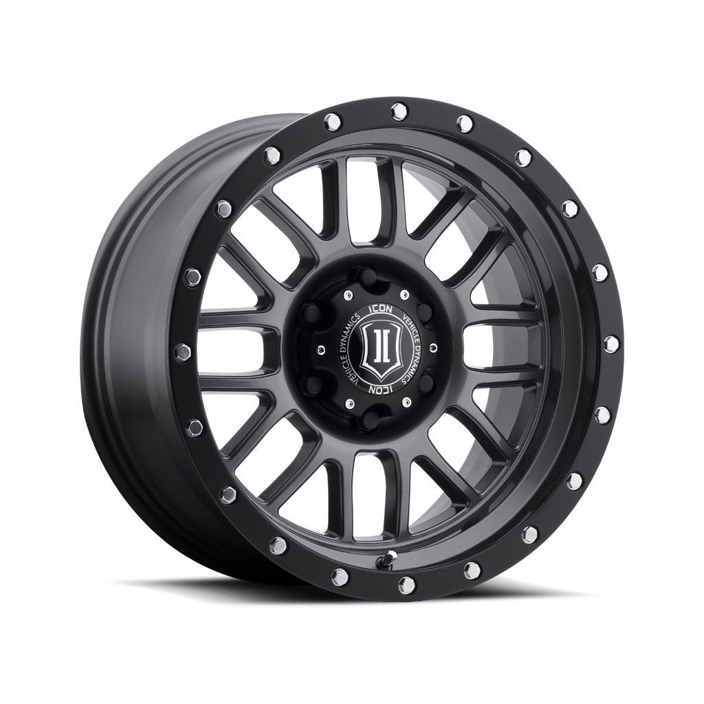 "ICON ALLOYS ALPHA GUN MTL - 17 X 8.5 / 5 X 5 / 0MM / 4.75"" BS"