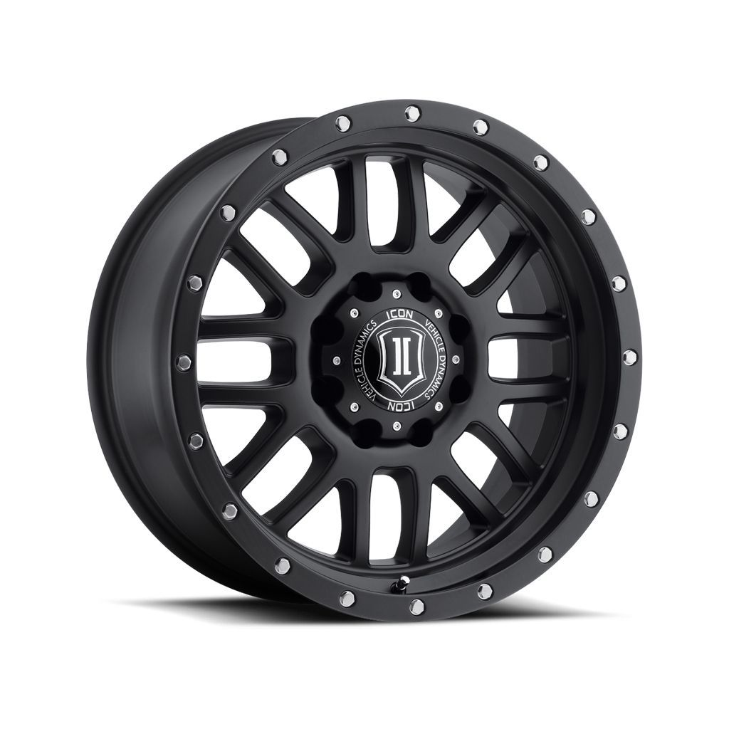 "ICON ALLOYS ALPHA SAT BLK - 20 X 9 / 8 X 180 / 12MM / 5.5"" BS"
