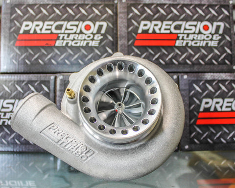 Precision Turbo 6262 Billet CEA Journal Bearing 705HP T3 Vband .82 A/R SP Cover