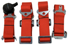 NRG Innovations 4 Point Seat Belt Harness & Cam Lock, Red SBH-4PCRD - HPTautosport