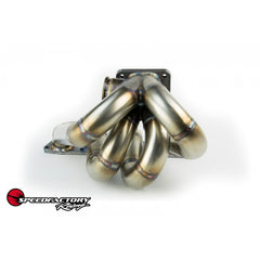SpeedFactory Stainless Steel Turbo Manifold Top Mount Style B Series T3 Flange w 38-40mm 2 Bolt WG SF-04-021