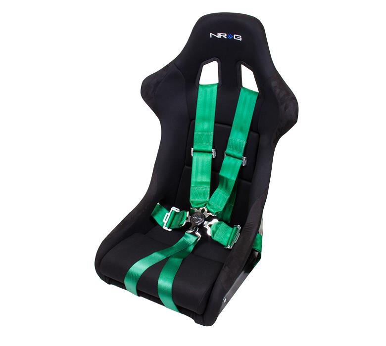 NRG Innovations 3 in. 6 Point Seat Belt Harness & Cam Lock, Green, SBH-6PCGN - HPTautosport