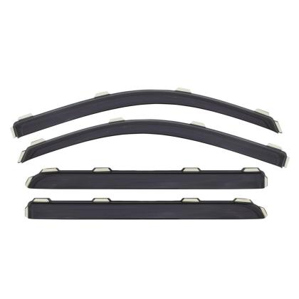 AVS Ventvisor In-Channel Front & Rear Window Deflectors 4pc - Smoke for 09-18 Dodge RAM 1500 Quad Cab