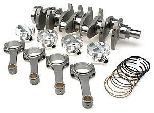 Brian Crower Honda H22 Stroker Kit - 100mm Stroke Billet Crank w/50mm Mains bRODS (5.635 w/ARP2000) Pistons BC0037