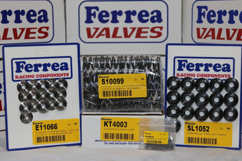 Ferrea 80lbs Dual Valvesprings, Keepers, Titanium Retainers Acura K20A2 KT4003