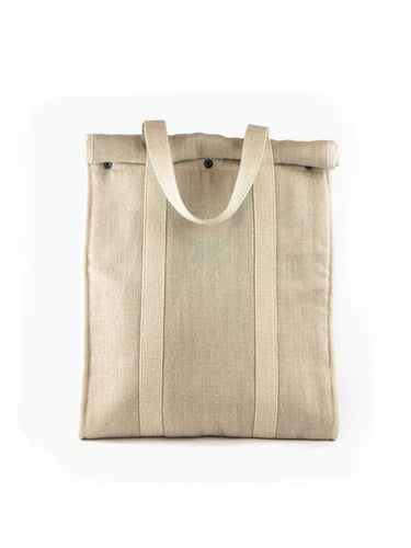 Grand sac isotherme naturel Berthe Mouton givré face