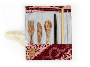 Set de couverts made in France ed. Batik 2020 rose bois de cocotier baguettes