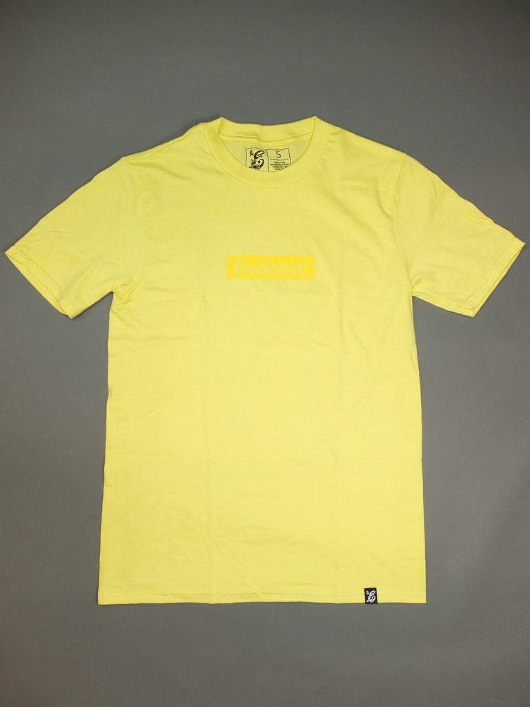 Endemic CMYK Tribute T-shirt Yellow - Endemic Skate Store