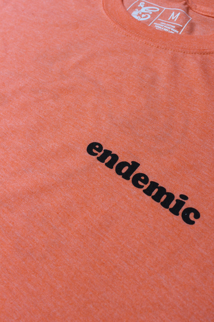 Endemic Snoopy T-shirt Heather Orange - Endemic Skate Store