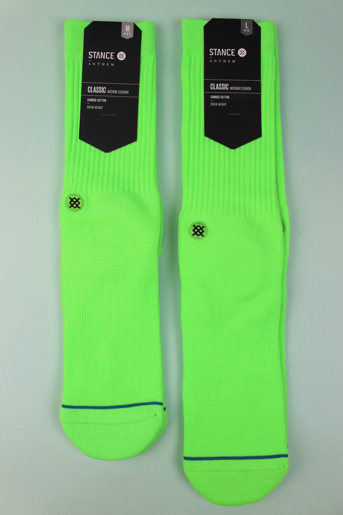 Stance Icon Anthem Florescant Green