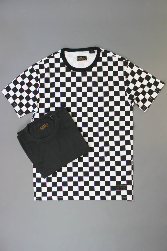 Levis Skate 2 Pack Tees Checkerboard / Jet Black - Endemic Skate Store
