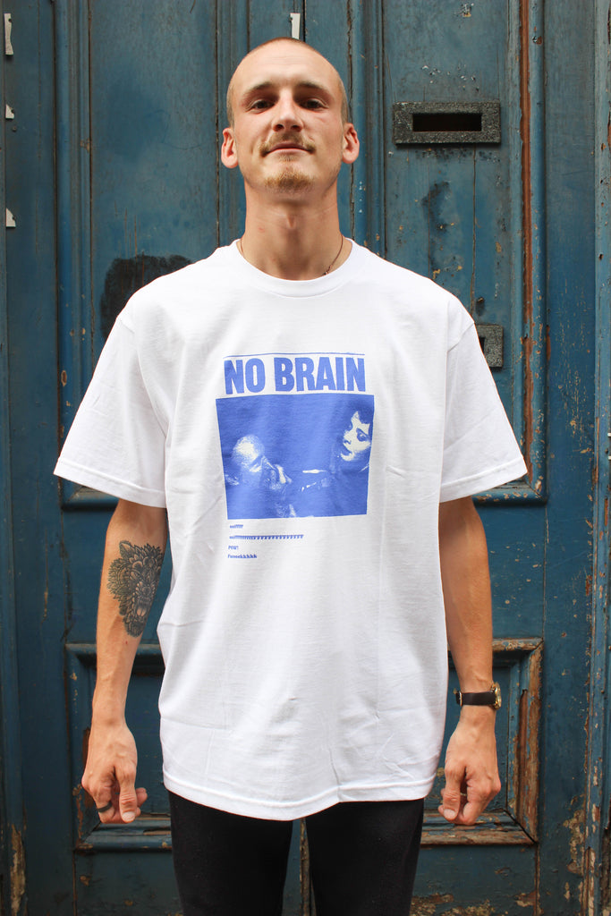 Fucking Awesome No Brain T-shirt White - Endemic Skate Store