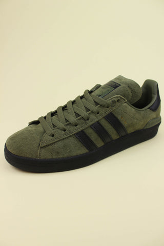Adidas Campus ADV Olive Cargo / Core Black / Gold Metallic - Endemic Skate Store