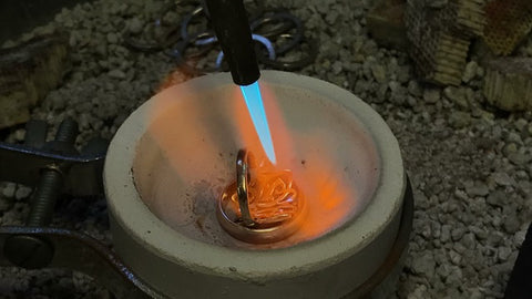 Melting the metal family heirloom gold metalsmith