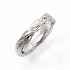 after heirloom family ring 14k white gold ecofriendly ecoconscious repurposing