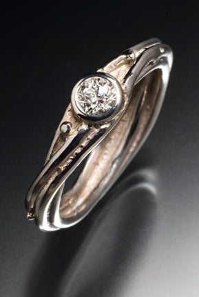 Recycle 14k white gold with inherited diamond