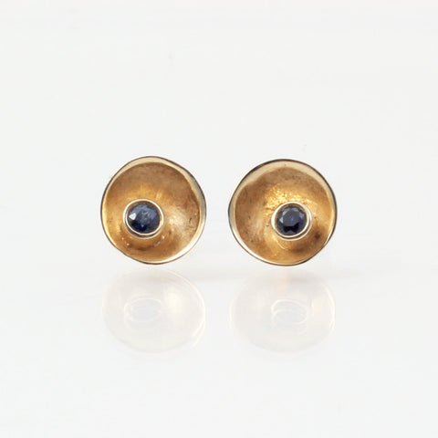 14k Gold Small Satellite Studs